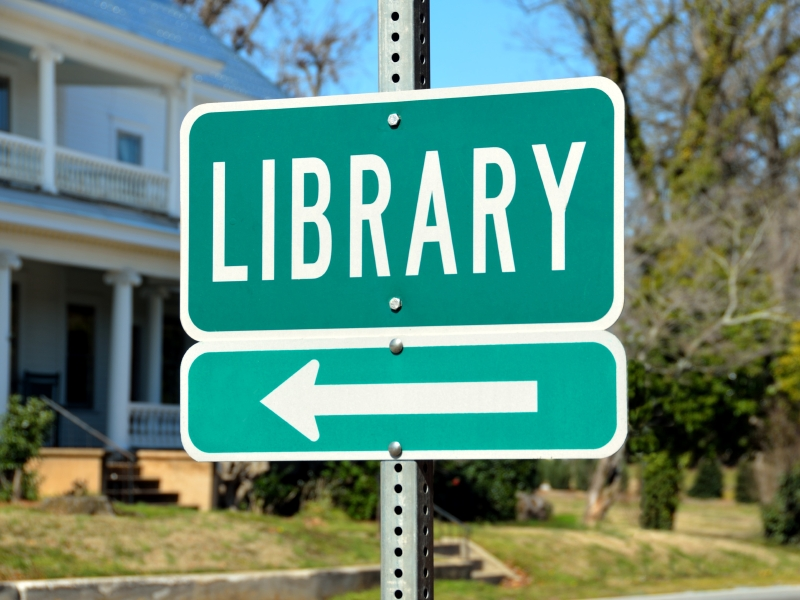 public library sign