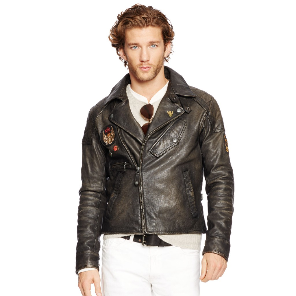 Ralph Lauren leather motorcycle jacket