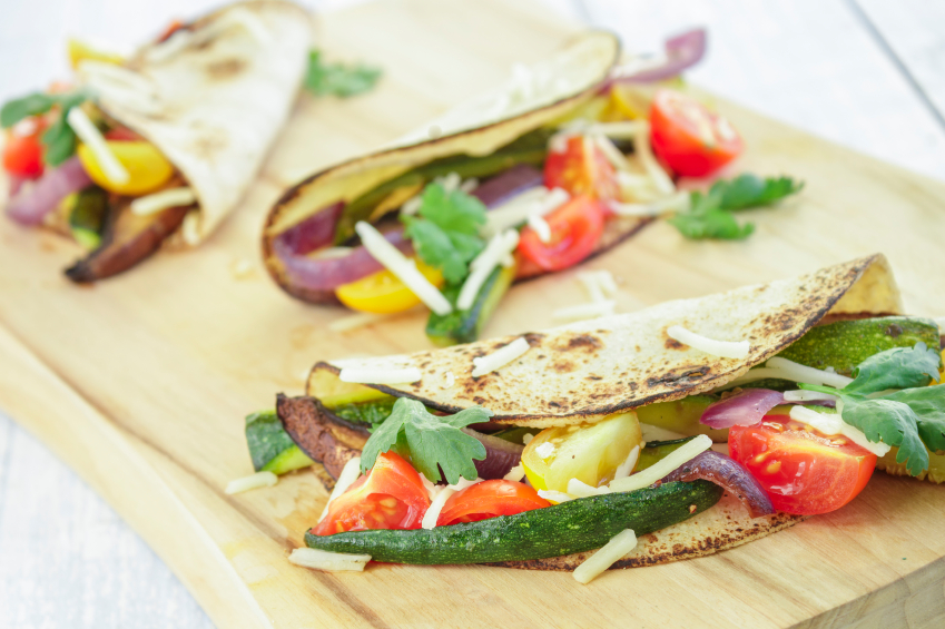 Grilled Vegetable And Bean Tacos With Corn Salsa Recipe Taste.com.au