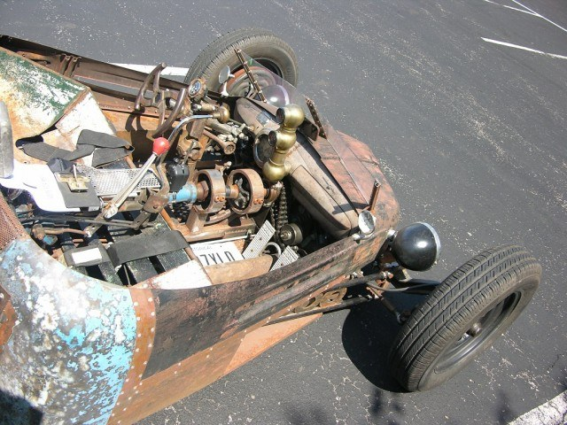 A rusty hot rod