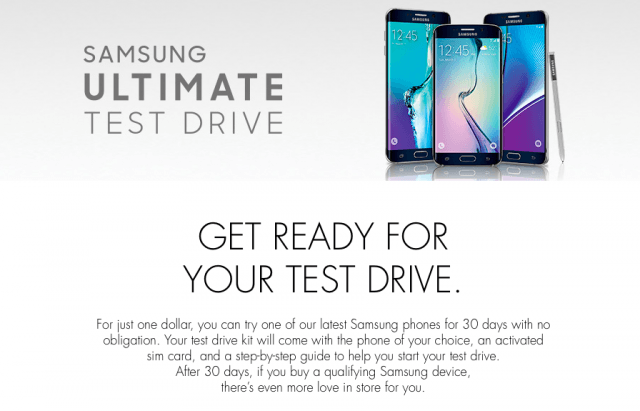 Samsung Ultimate Test Drive promotion