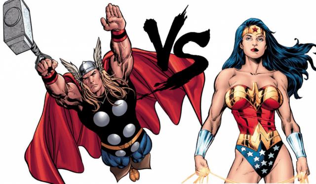 Thor Wonder Woman Marvel DC