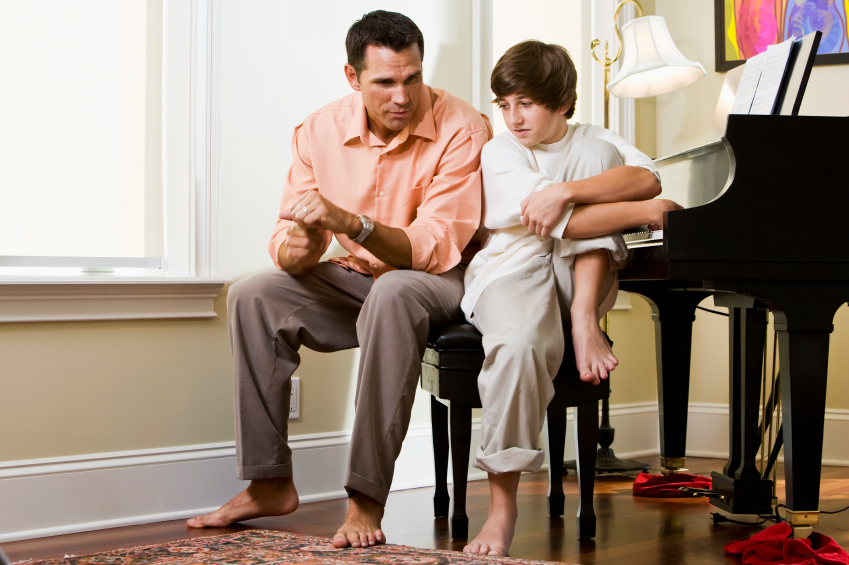 father talking to son, parenting, family, kids, dad
