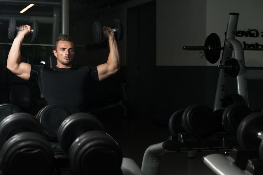 seated dumbbell shoulder press