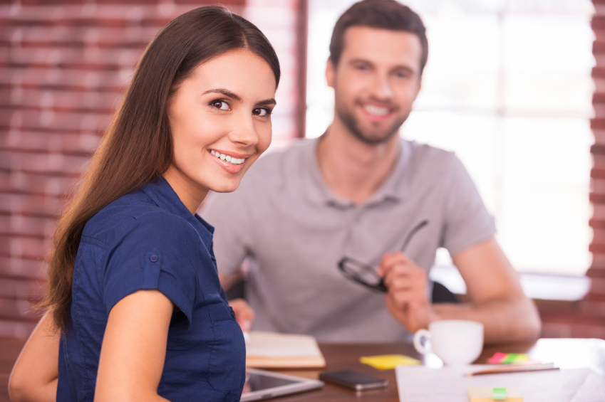 Successful job candidate, couple
