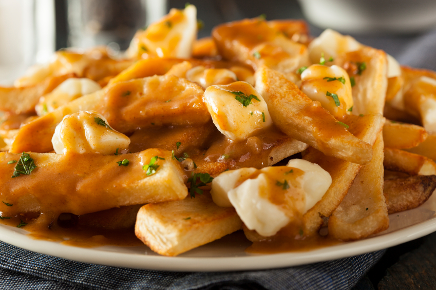 Poutine with French Fries, cheese