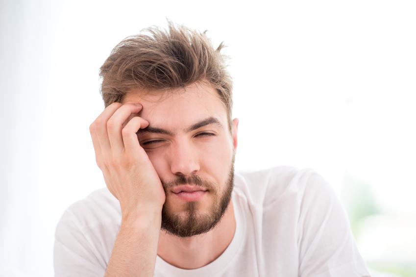 A tired man