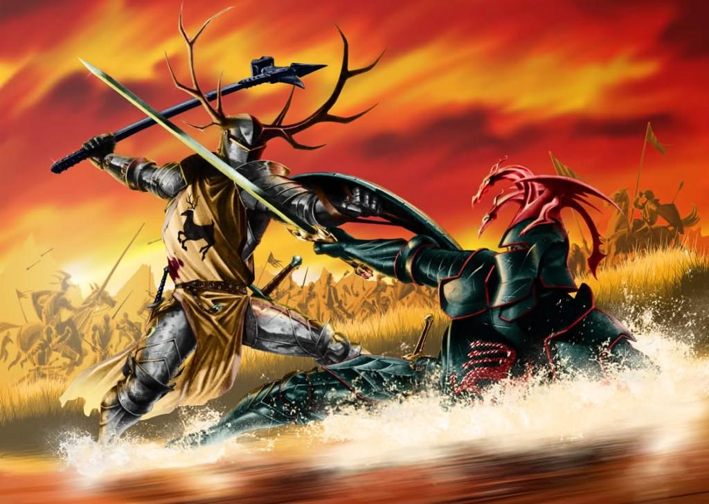 Robert Baratheon and Rhaegar Targaryen at the Battle of the Trident