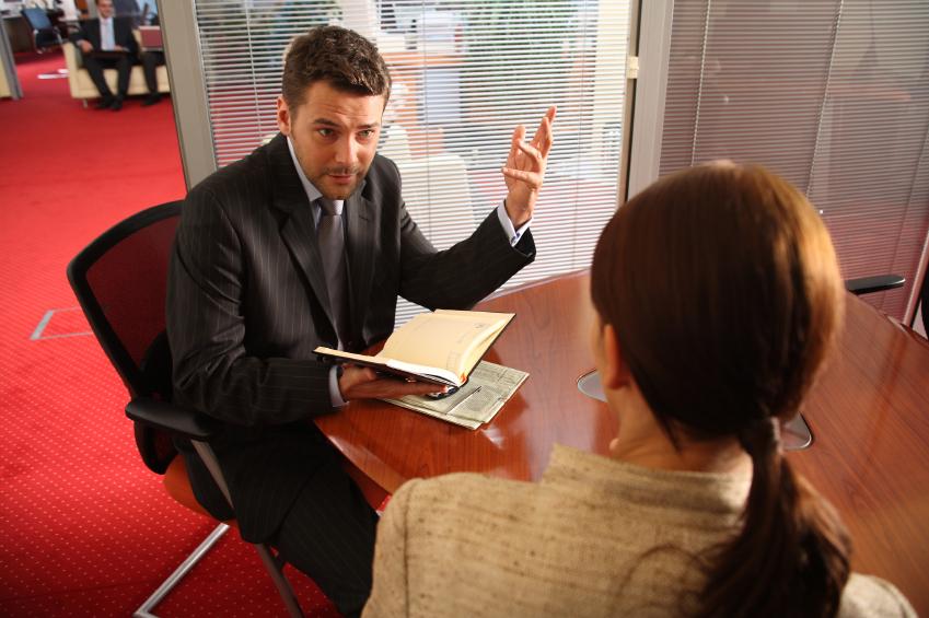 co-workers talking