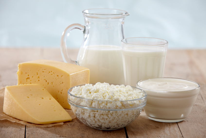 Group of dairy products