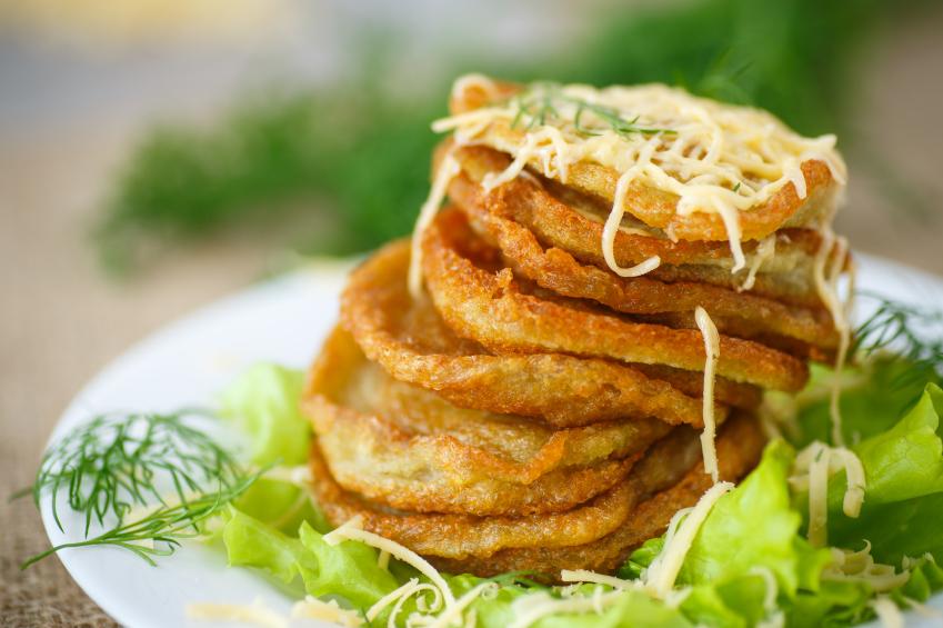 potato pancakes, cheese, dill