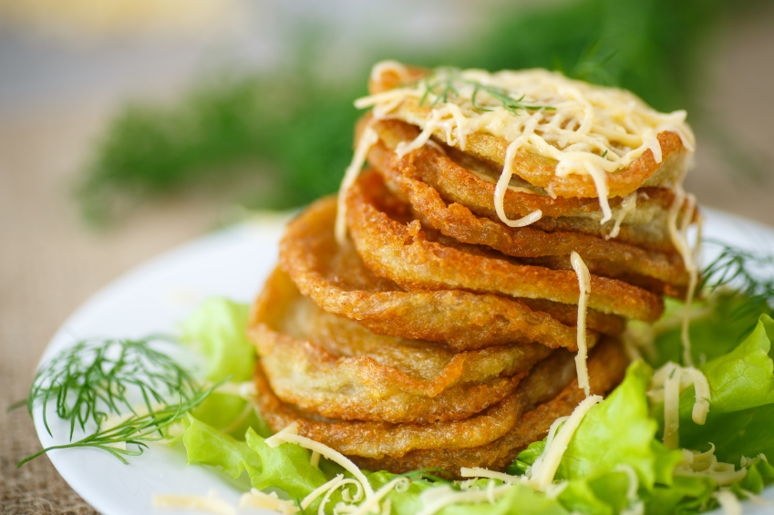 potato pancakes, cheese, dill
