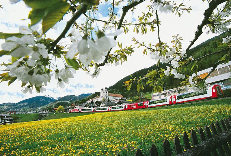glacier express, switzerland, train