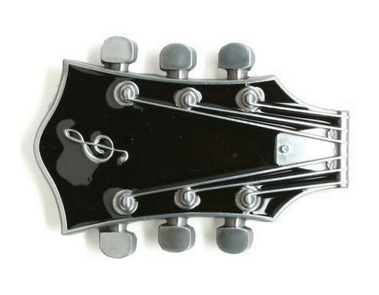 Guitar Head Belt Buckle