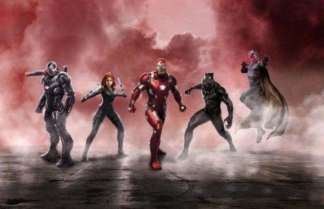 Team Iron Man promo image from Captain America: Civil War