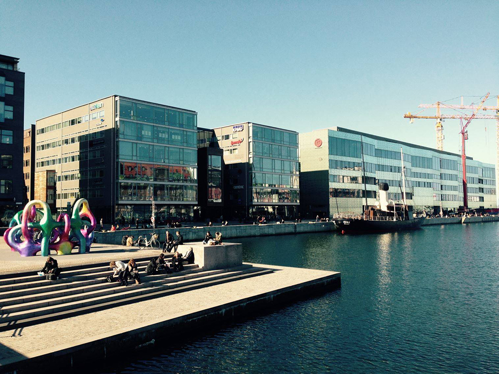 The waterfront in Malmo, Sweden