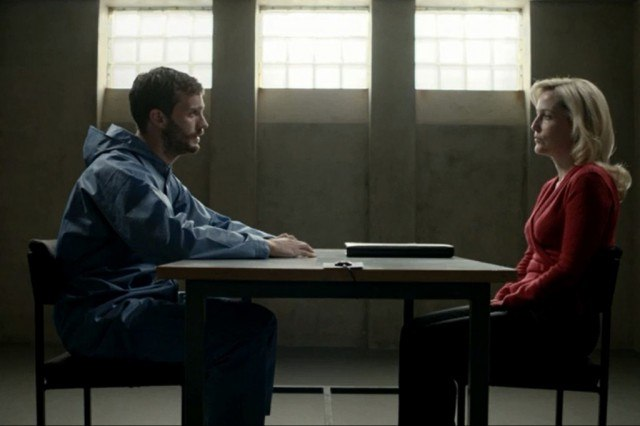 Jamie Dornan and Gillian Anderson in 'The Fall'