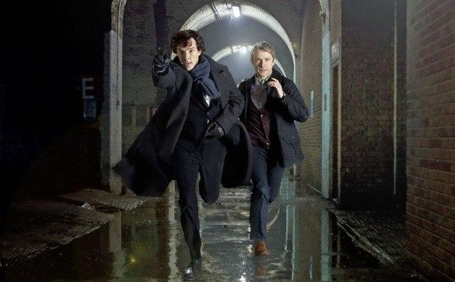 Benedict Cumberbatch and Martin Freeman in 'Sherlock'