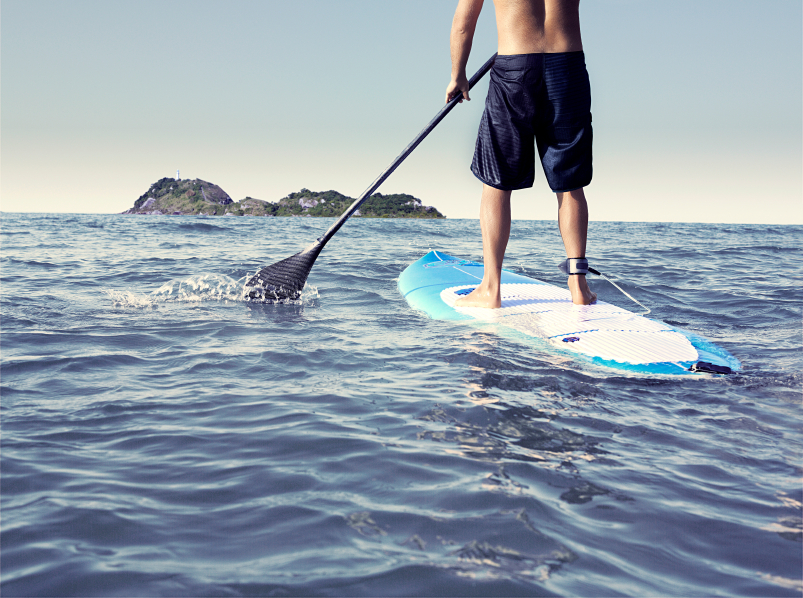 paddleboarding is a great form of exercise