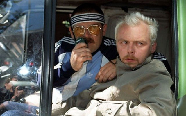 Nick Frost and Simon Pegg in 'Spaced'
