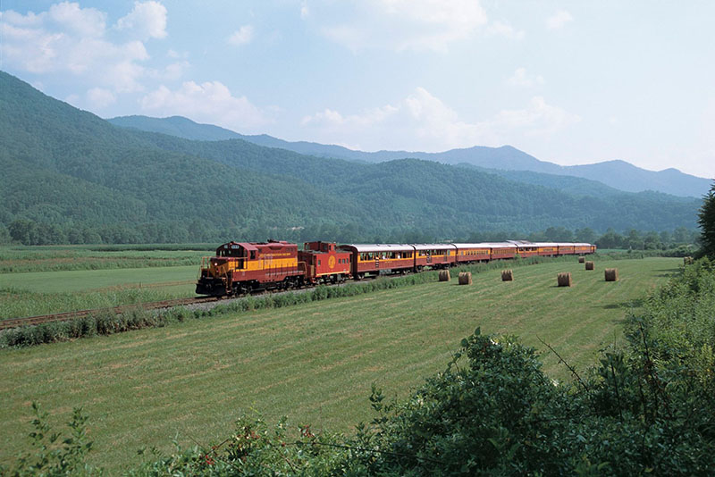 smoky mountain railroad, North Carolina, train
