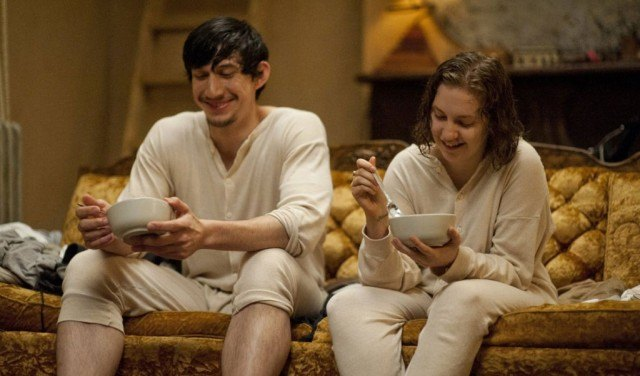 Adam Driver and Lena Dunham in 'Girls'