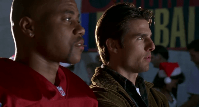 Cuba Gooding Jr. and Tom Cruise in Jerry Maguire