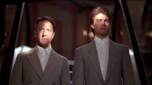 Dustin Hoffman and Tom Cruise in Rain Man