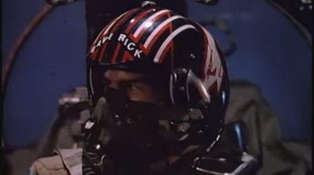 """Tom Cruise as a fighter pilot in """"Top Gun"""""""
