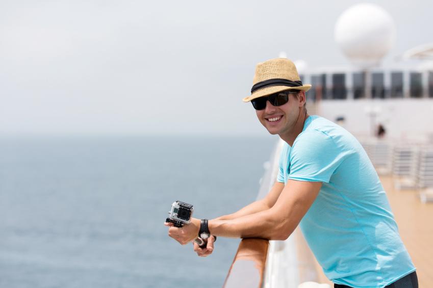 Man on a cruise ship