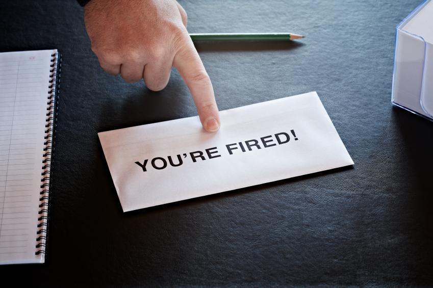 HR sliding over a firing notice