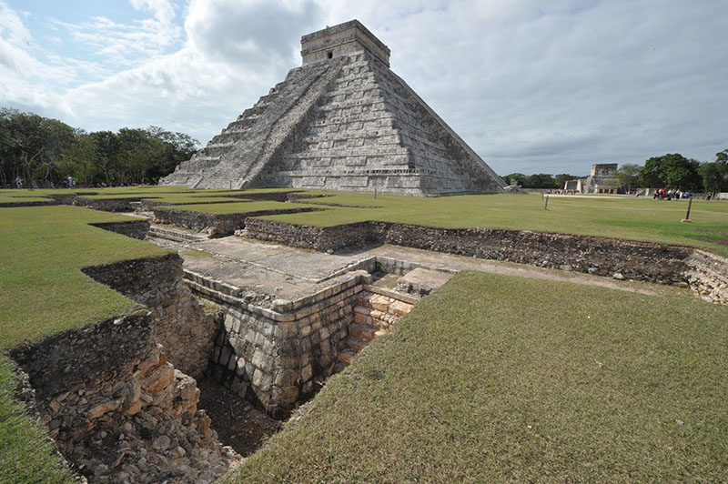Pyramids and ruins in Mexico