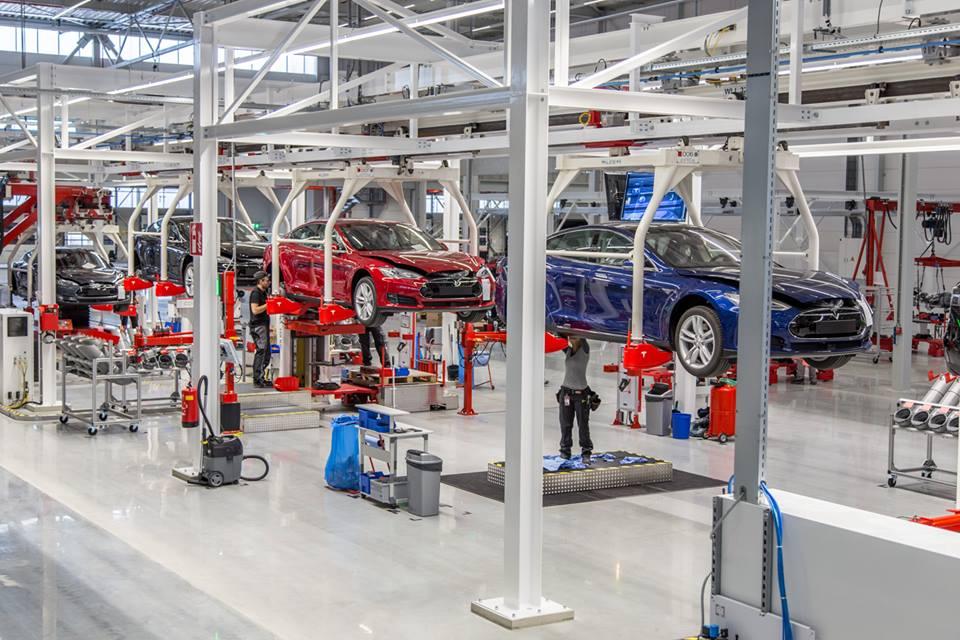 Tesla factory, Fremont, Calif.