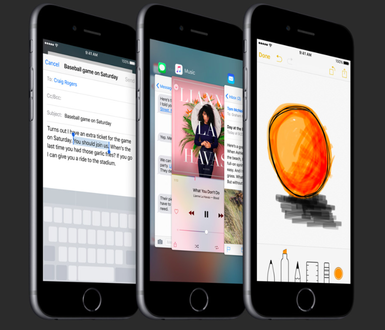 3D Touch functions on iPhone 6s