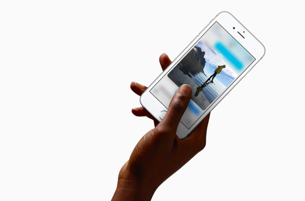 3D Touch on the iPhone 6s