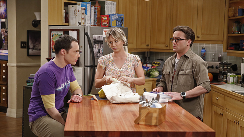 Jim Parsons, Kaley Cuoco, and Johnny Galecki on The Big Bang Theory'