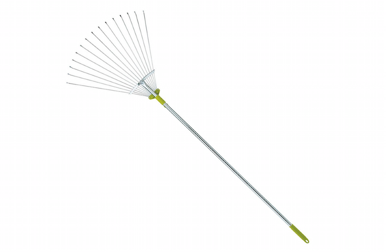 63 Inch Adjustable Garden Leaf Rake