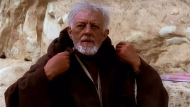 Alex Guinness in A New Hope