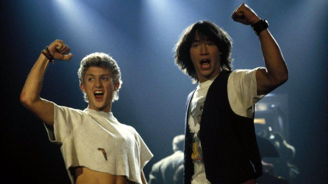 Alex Winter and Keanu Reeves in 'Bill and Ted's Excellent Adventure'
