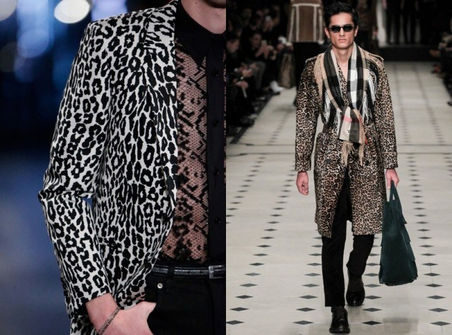 Animal Print Saint Laurent and Burberry fall runway style