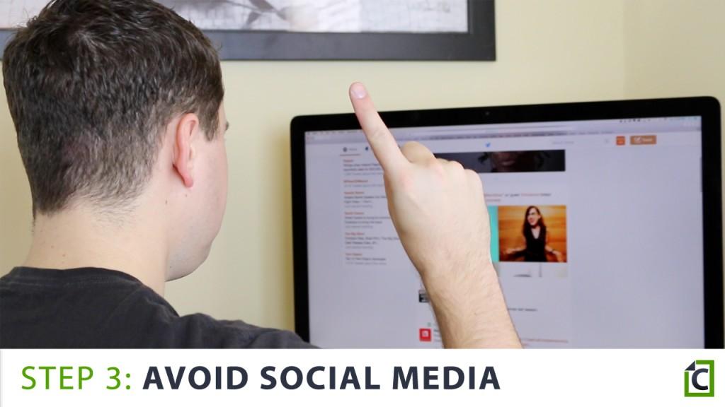 Avoid social media