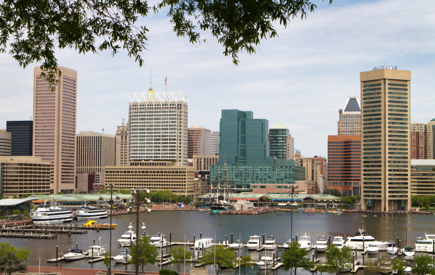 Baltimore Inner City Harbor