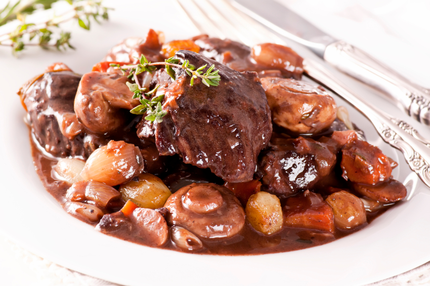 plate of beef stew