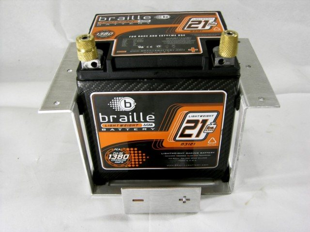A Braille carbon fiber car battery