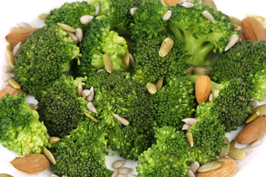 broccoli, nuts, seeds