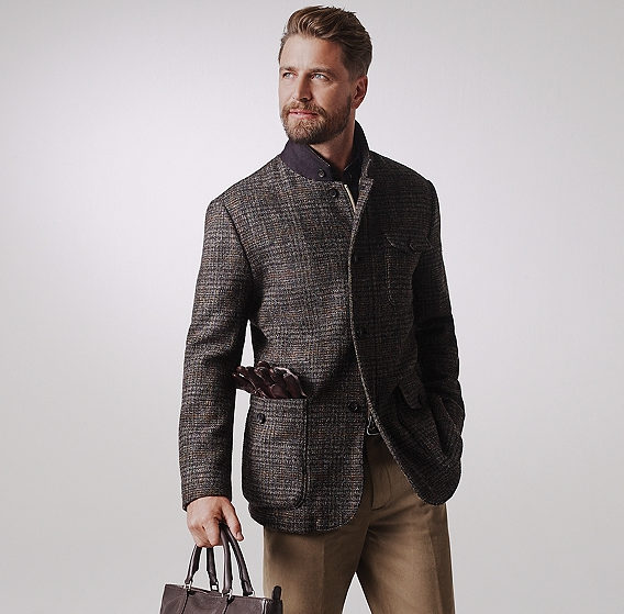 Brooks Brothers Harris Tweed hybrid jacket
