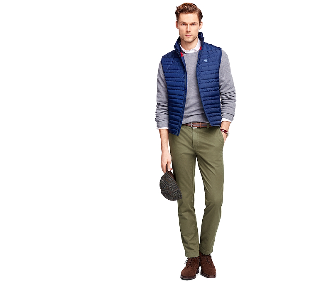 Brooks Brothers garment-dyed chinos