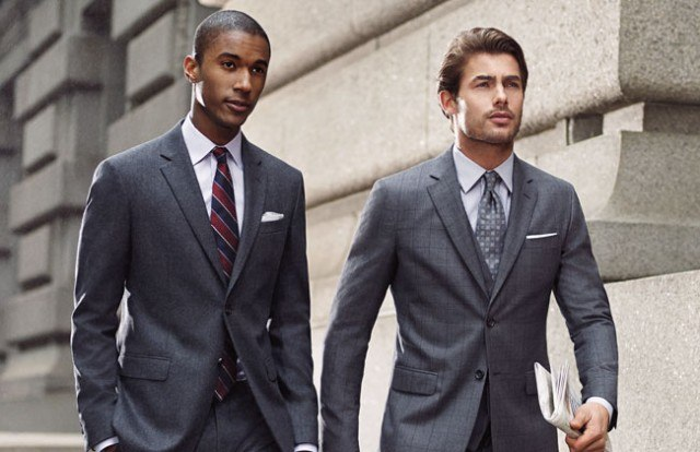 Brooks Brothers gray suiting