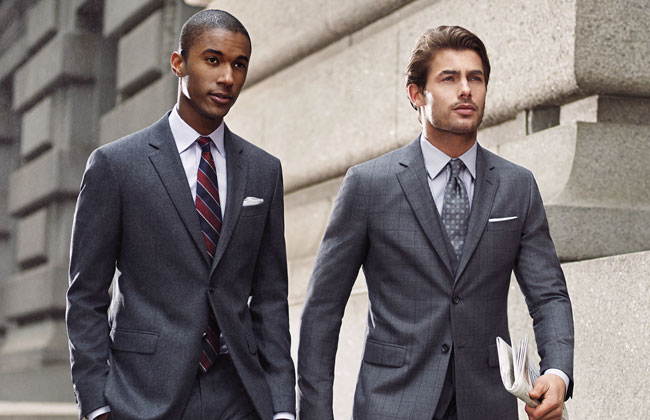 Man in perfectly tailored suits