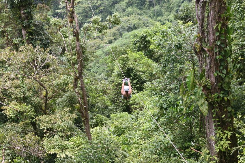Costa Rica zip-line